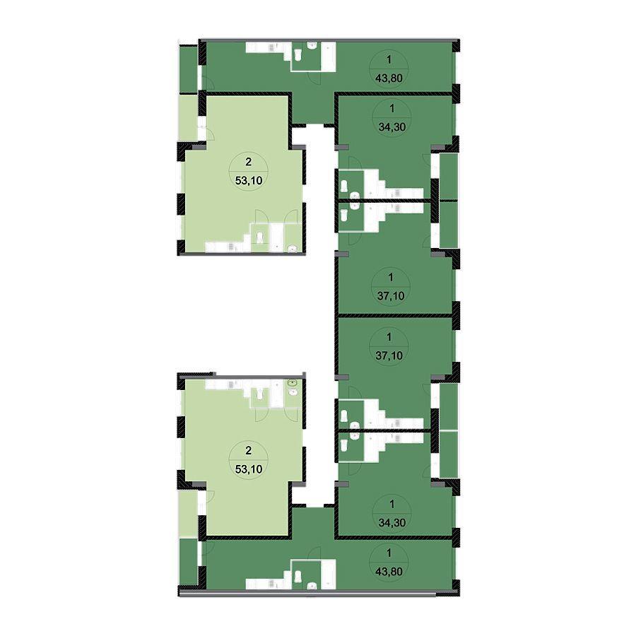 Однокомнатные квартиры-студии в Москве в жилом комплексе «Архимед II»