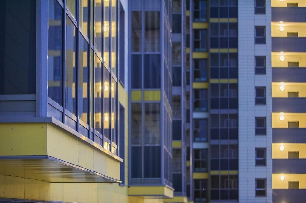Новостройка Жилой комплекс «Архимед II» в Москве. Вид с окна.