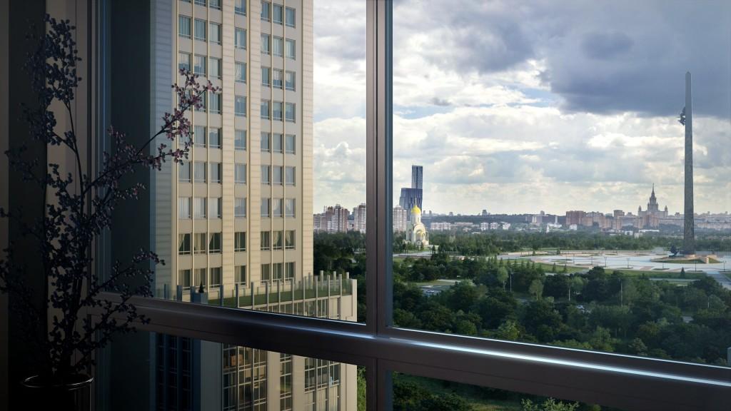 Новостройка от МФК 'Match Point' в Москве. Общий вид здания.
