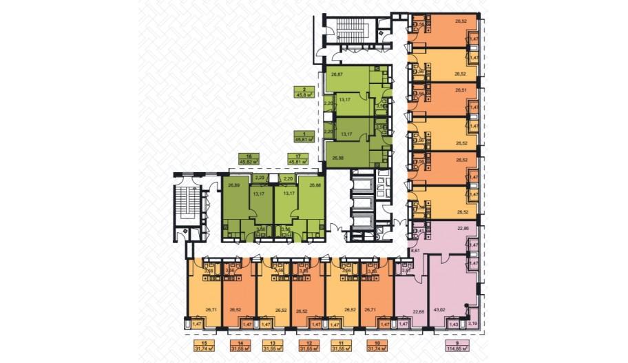 Планы новостройки апартаментов ЖК «Лайнер» в Москве