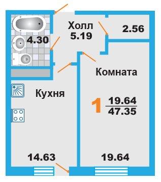 Дешевая однокомнатная квартира в Москве, новостройка ЖК «Менделеев»