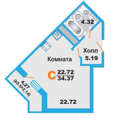 Готовая однокомнатная квартира в новостройке ЖК «Менделеев» в Москве