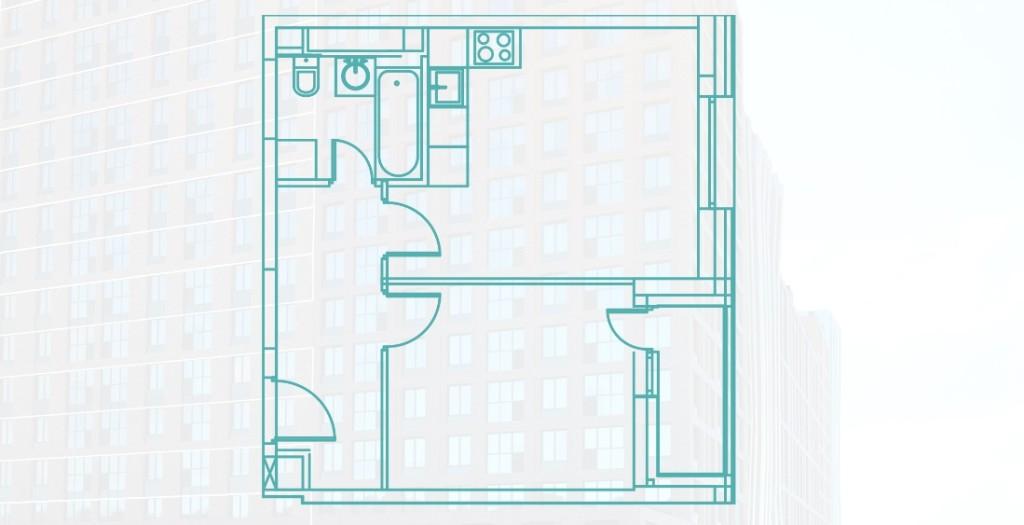 Однокомнатная квартира 40.7 м2 на Каширской в новостройке ЖК «Ясный» в Москве