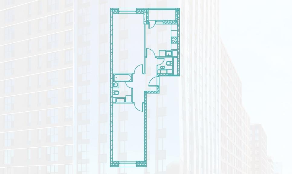 Двухкомнатная квартира 60.1 м2 на Каширской в новостройке ЖК «Ясный» в Москве