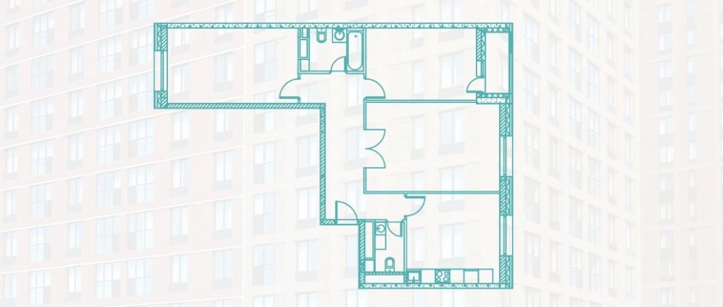Трехкомнатная квартира 88.1 м2 на Каширской в новостройке ЖК «Ясный» в Москве