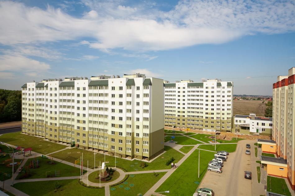 5799baНовостройка Москвы в Володарского. ЖК «Ольховка-3». Общий вид двора.4d886958