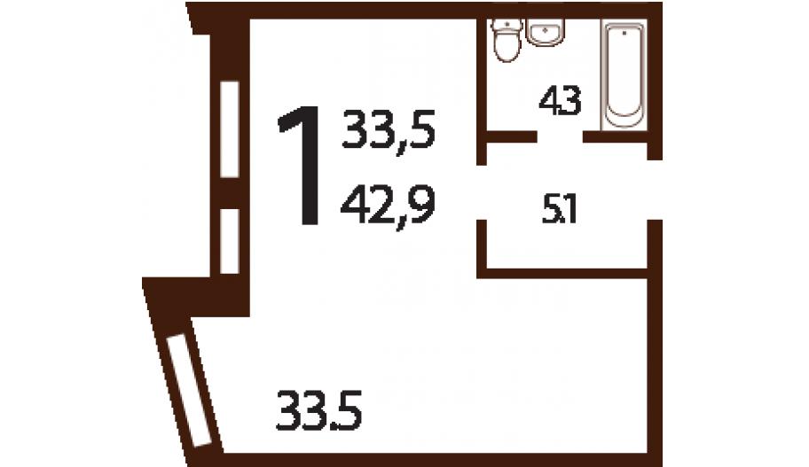 Однокомнатные апартаменты в ЮЗАО Москвы в новостройке апарт-комплекс «Ландыши»