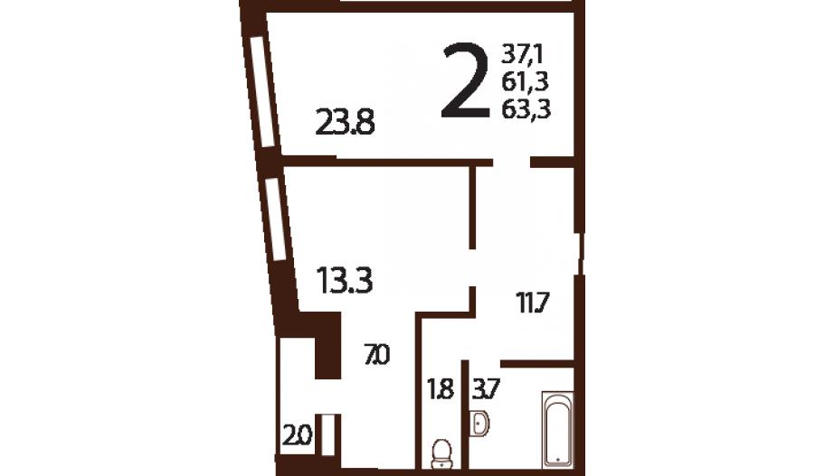 Двухкомнатные апартаменты в ЮЗАО Москвы в новостройке апарт-комплекс «Ландыши»
