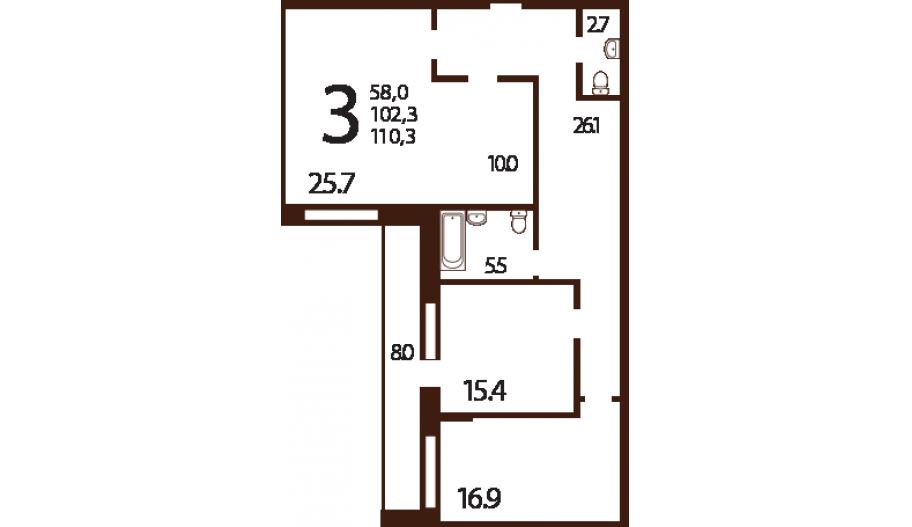 Трехкомнатные апартаменты в новостройке комплекс «Ландыши» в ЮЗАО Москвы.