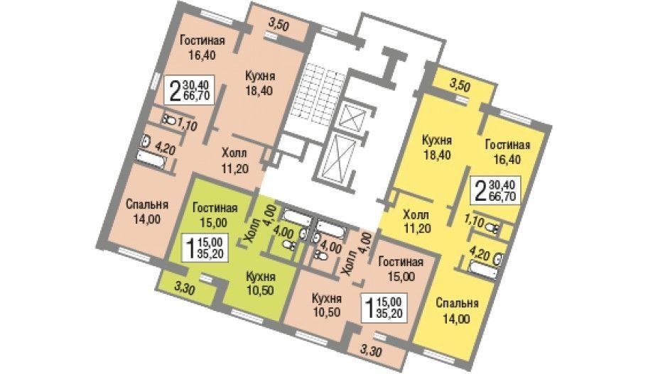 Поэтажные планы новостройки в Железнодорожном, Москва ЖК «Новоград Павлино»