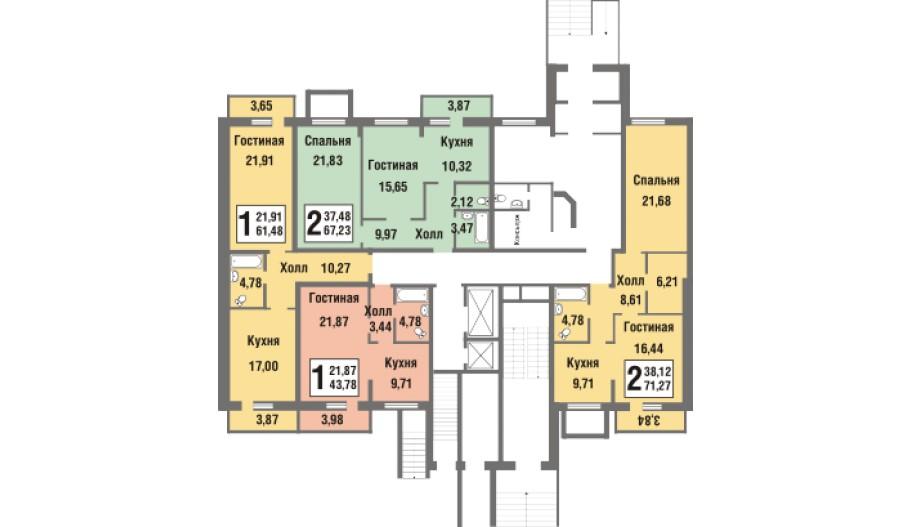Одно- и д вухкомнатные квартиры в Новой Москве в новостройке ЖК «Татьянин Парк»