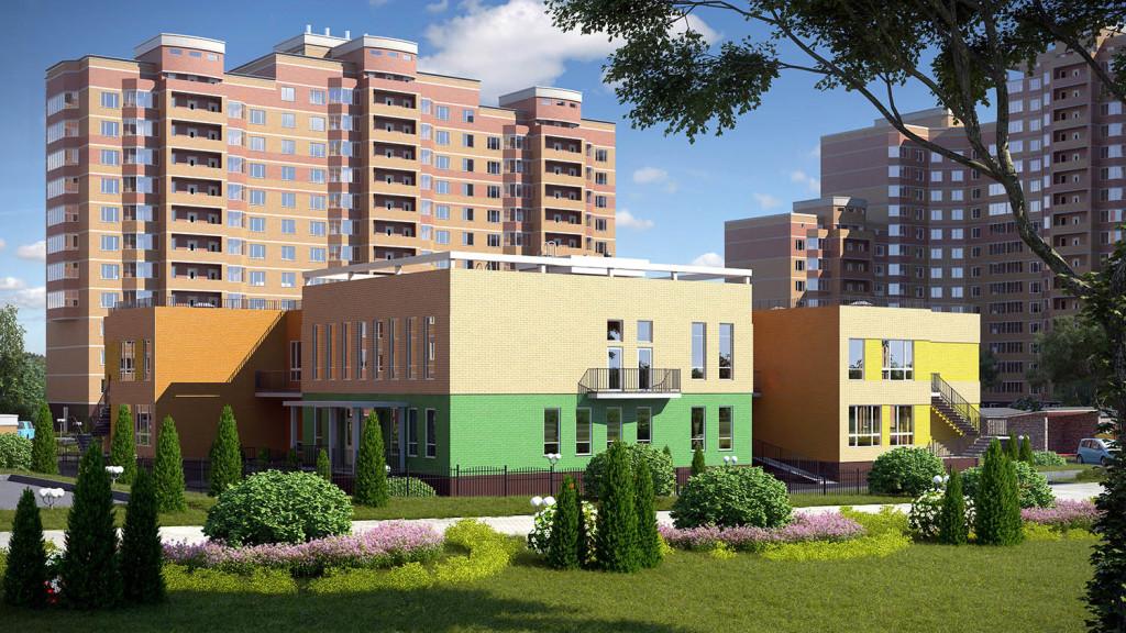 Новостройка ЖК «Зелёные Аллеи» в Видное, Москва.