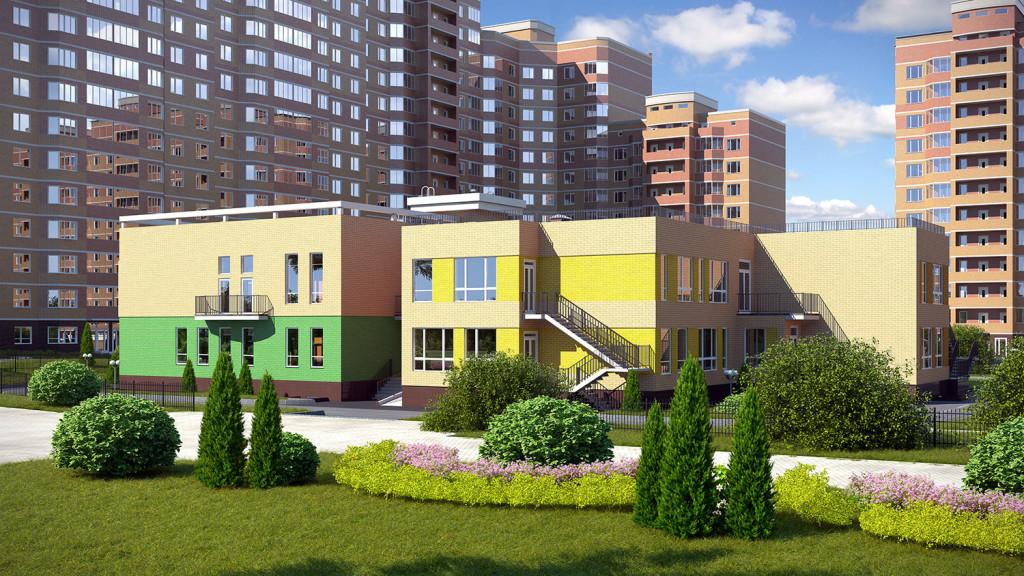 Новостройка ЖК «Зелёные Аллеи» в Видное, Москва. Своя инфраструктура.