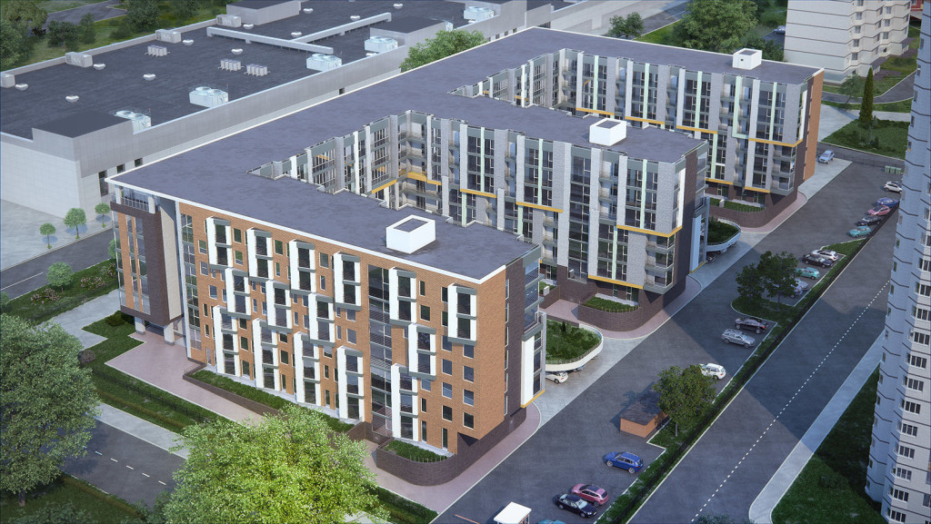 Апартаменты в новостройке ЮЗАО Москвы комплекс «Ландыши». Вид сверху.