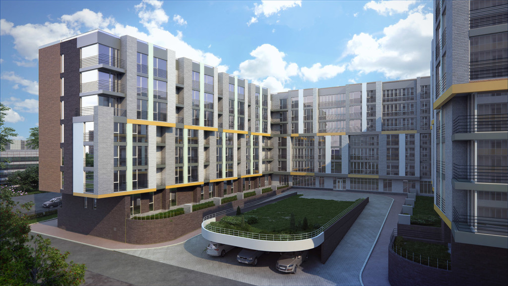 Апартаменты в комплексе «Ландыши» в новостройке ЮЗАО Москвы от застройщика. Во дворе. Оригинальная парковка.