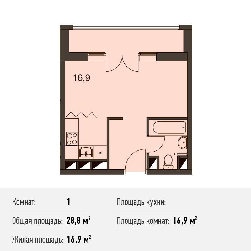 Студия-апартаменты на юге Москвы от застройщика. Новостройка Апарт-Комплекс «ТехноПарк»