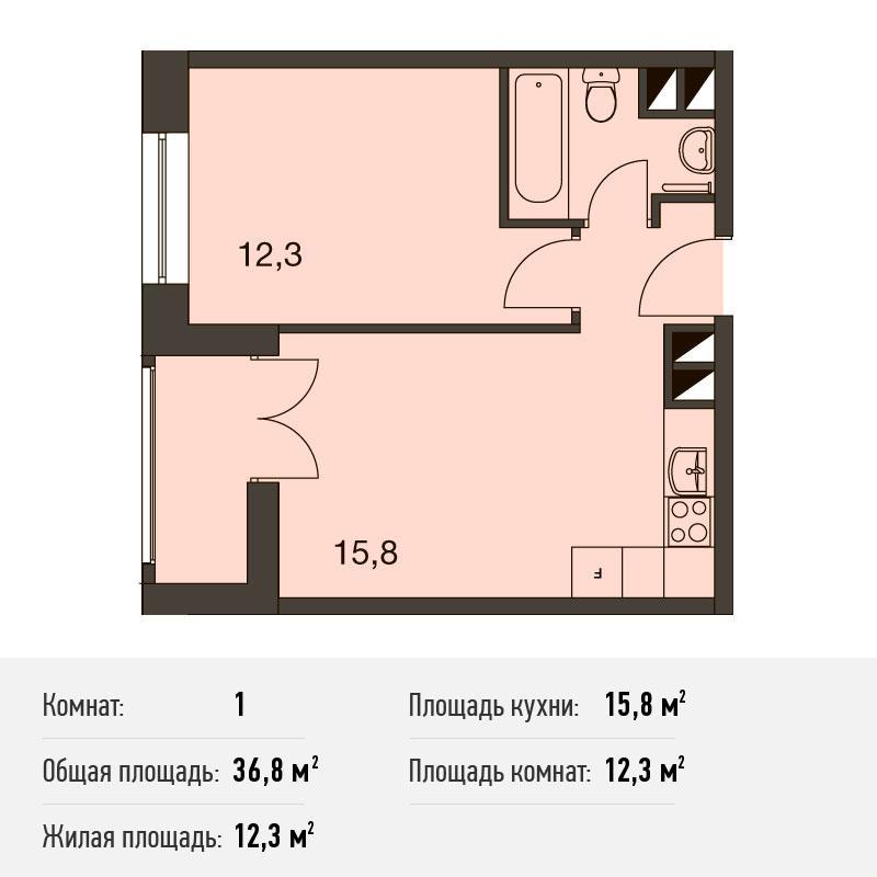 Однокомнатные апартаменты в новостройке Апарт-Комплекс «ТехноПарк» в ЮАО Москвы от застройщика.