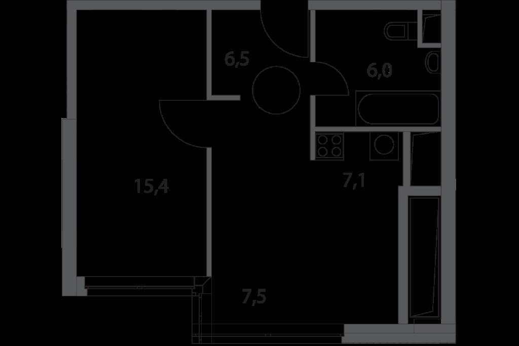 Однокомнатные апартаменты в новостройке апарт-комплекс «Волга» в Москве