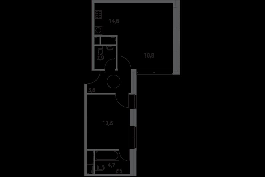Однокомнатные апартаменты в Москве в новостройке апарт-комплекс «Волга»