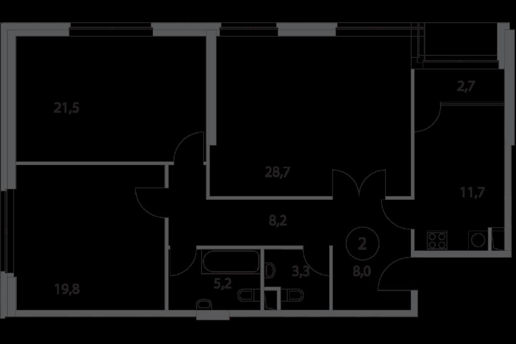 Трехкомнатные апартаменты в Москве в новостройке апарт-комплекс «Волга»