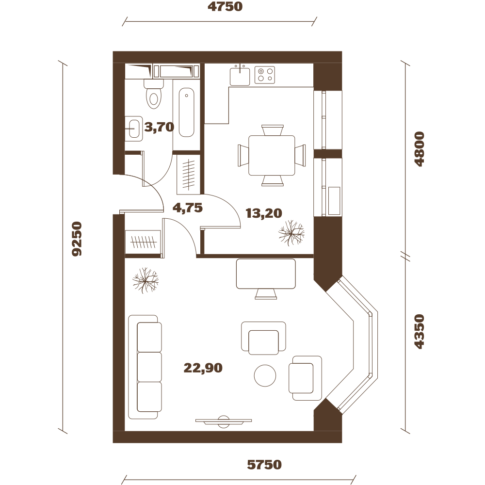 Однокомнатная квартира в Москве в новостройке Микрорайон «Домашний» в Марьино