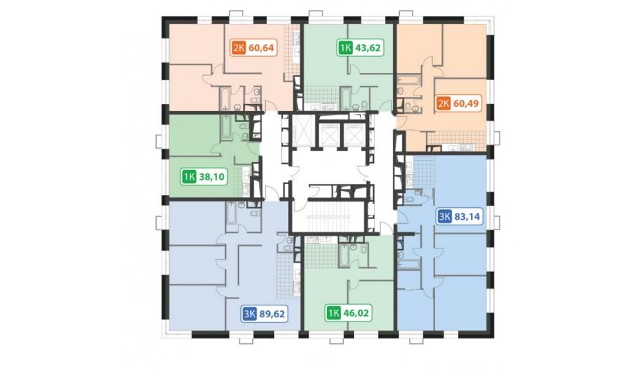 Поэтажные планы квартир в Перово, Москва. Жилой комплекс «PerovSky»