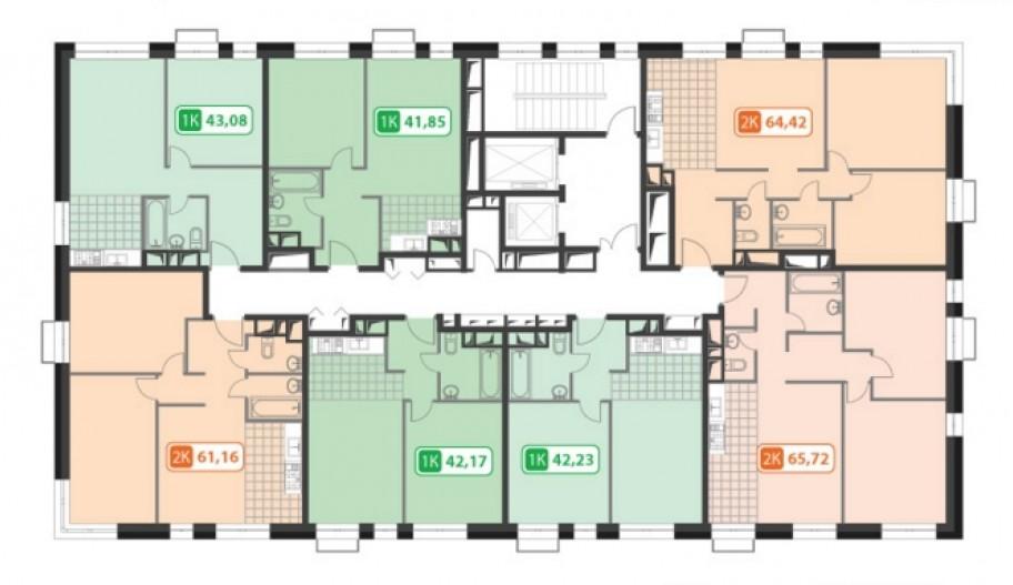Поэтажные планы квартир в новостройке Жилой комплекс «PerovSky» в Москве, Перово