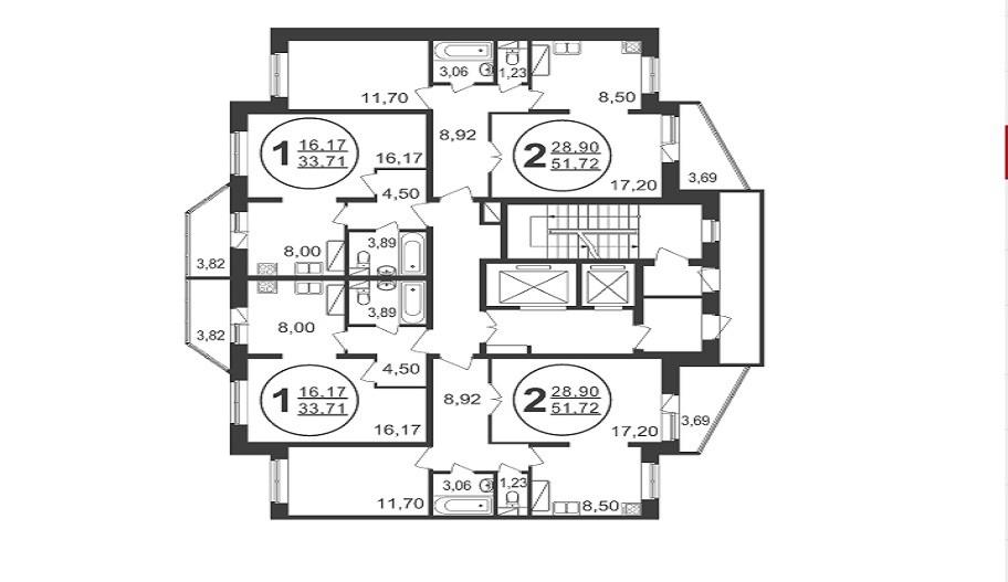 Поэтажные планы квартир в Пушкино. Новостройка микрорайон «Новое Пушкино»