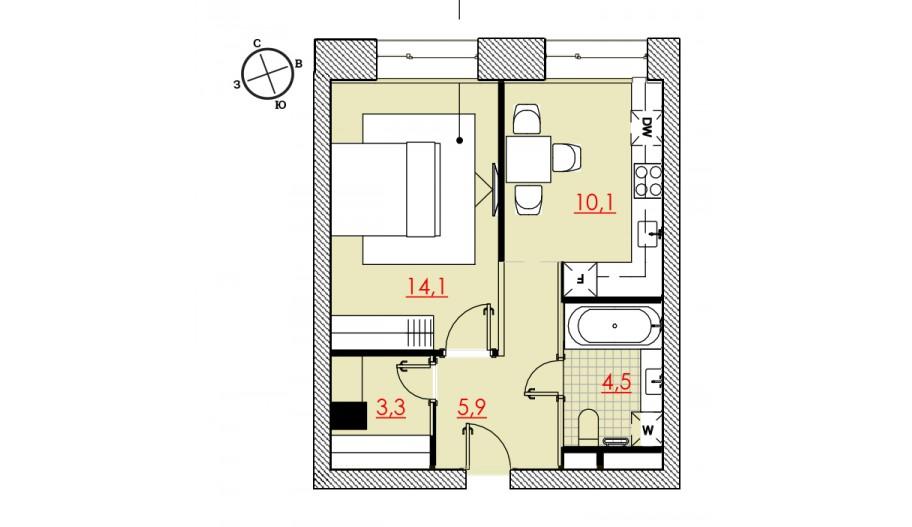 Однокомнатные апартаменты в САО Москвы в новостройке апарт-комплекс «Большевик»