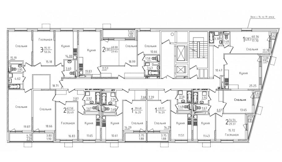 Типовой 3-19 этаж секция 3 в новостройке ЮВАО Москвы ЖК «Михайлова 31»
