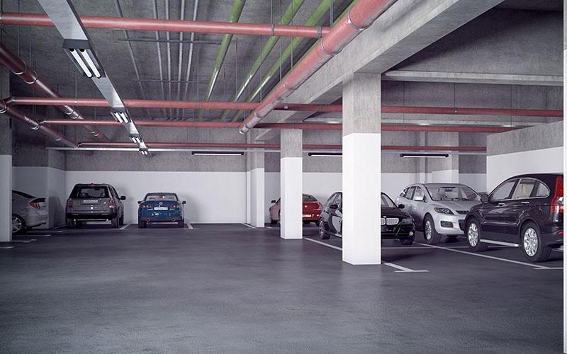Новостройка ЖК «Большие Мытищи-Тайнинская» в Мытищах, Москва. Подземный паркинг.
