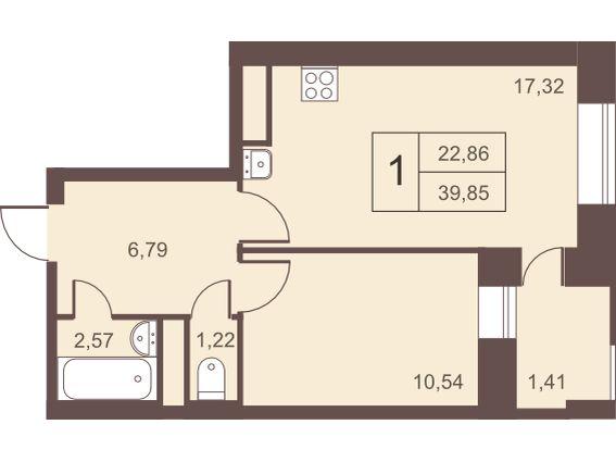 Однокомнатная квартира в новостройке подмосковья Жилой Комплекс «Столичный» в г. Железнодорожный.
