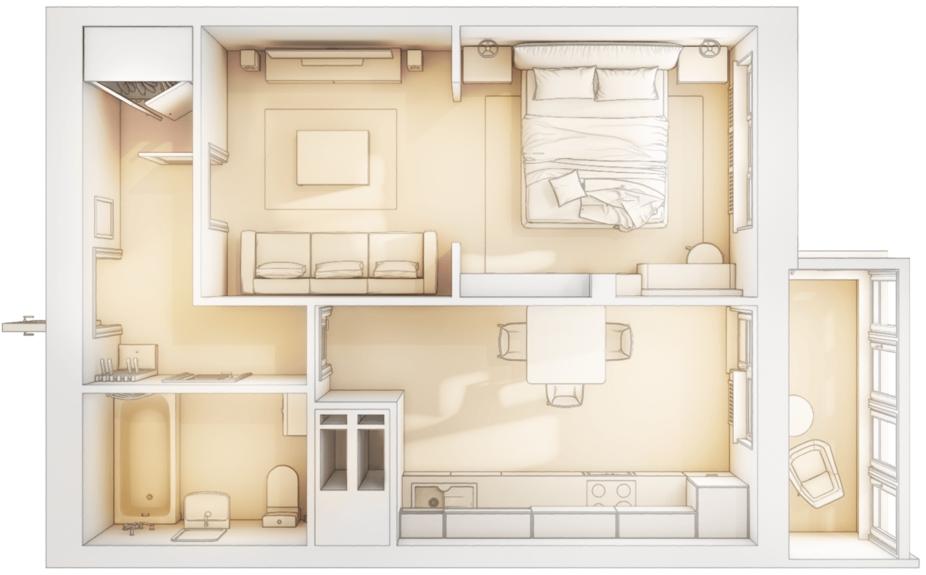 Однокомнатная квартира в новостройке Восточного округа Москвы от ЖК «Яуза Парк»