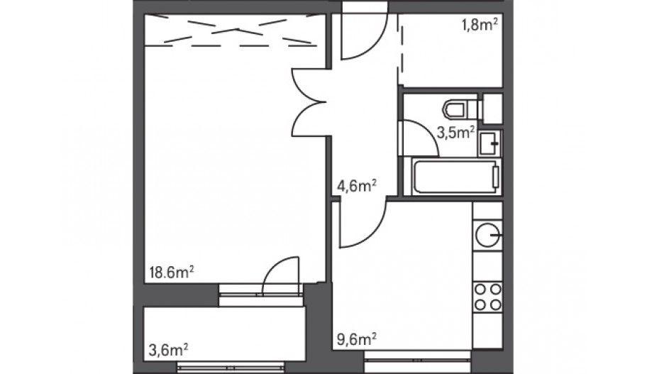 Однокомнатная квартира комфорт-класса в новостройке в Тушино от застройщика. Город на реке Тушино-2018