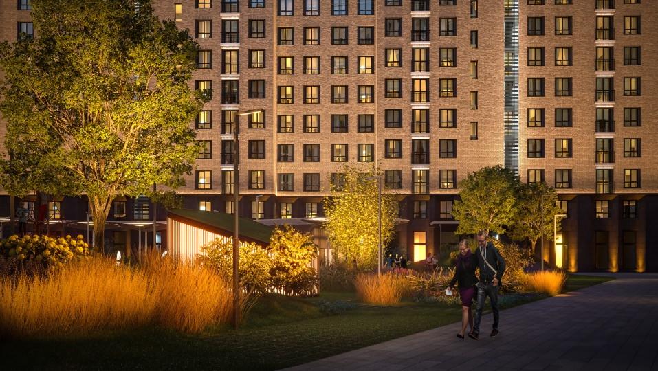 У проекта ONLY — оптимальное расположение: вблизи парковой зоны, но с видом на москва-сити и удобной транспортной доступностью