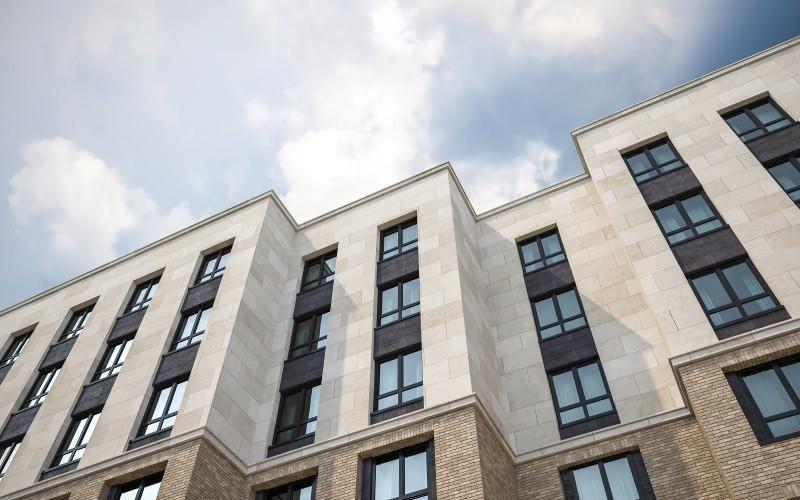 Апартаменты в новостройке Москвы комплекс«ONLY». Фасад.